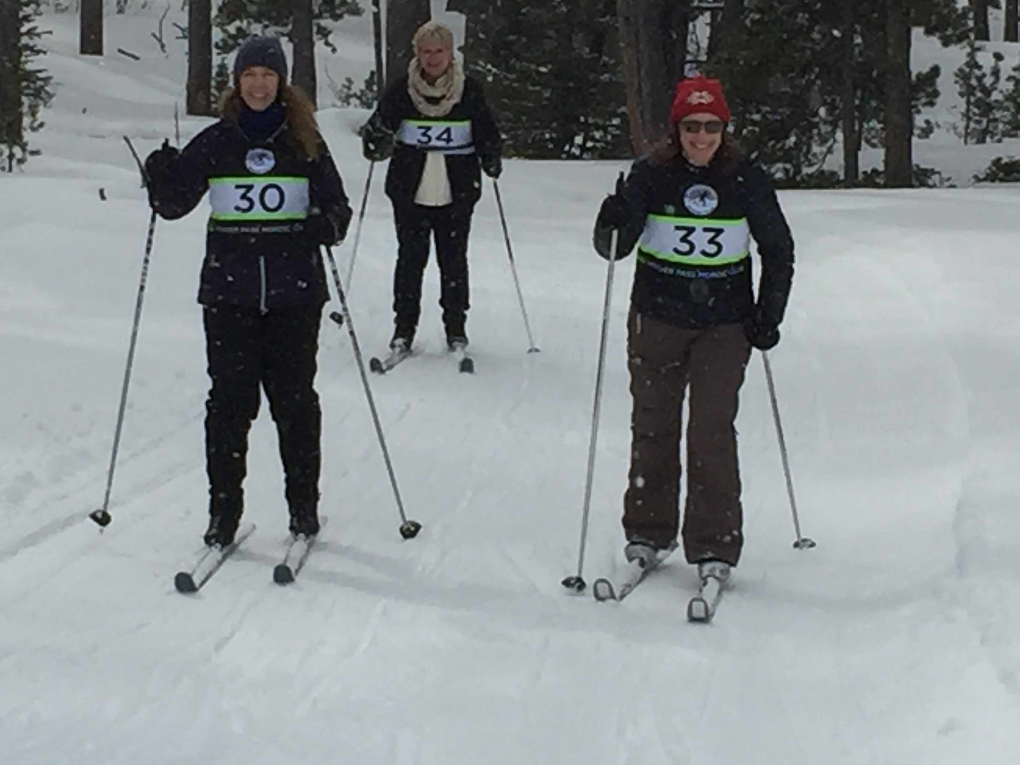 Skiers enjoying Pole Creek Challenge